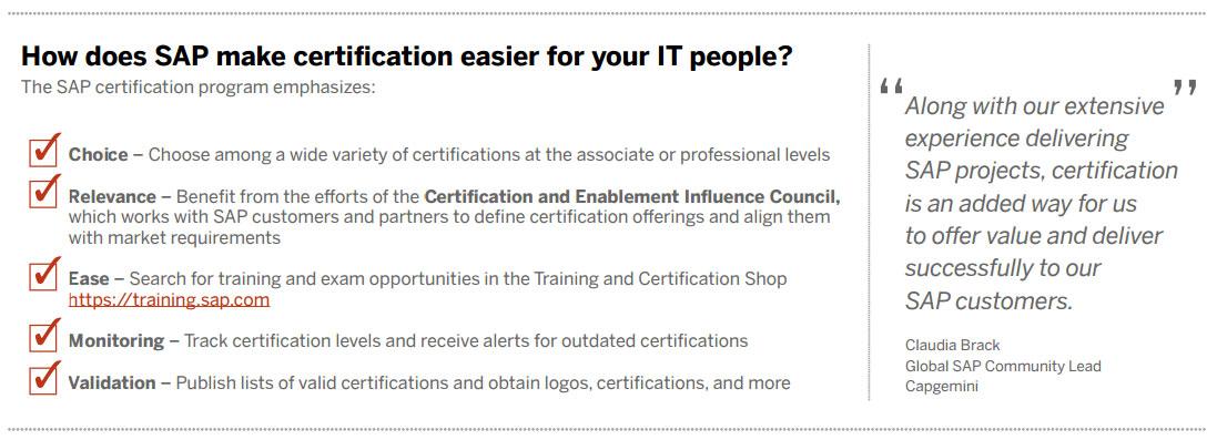 Sap Training Education Sap Certification Cost Sap India Careers